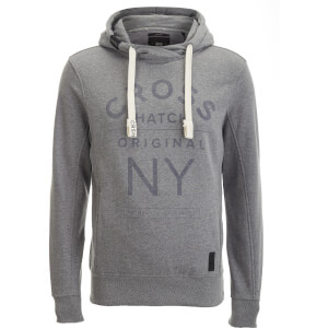 Sweat à Capuche Homme Laramie Crosshatch - Gris Clair Chiné