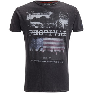 Brave Soul Men's Gig T-Shirt - Jet Black Wash