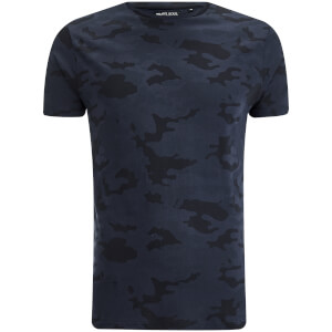 Brave Soul Men's Disguise Camo T-Shirt - Navy