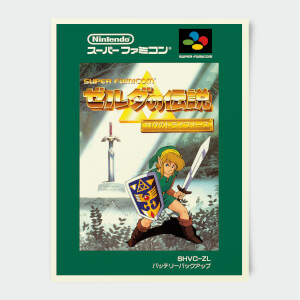 Nintendo Super Famicom Legend Of Zelda Print