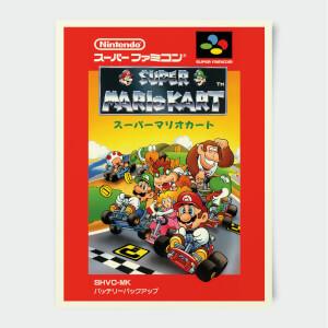 Nintendo Super Famicom Mario Kart Poster