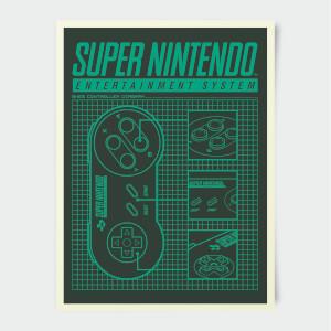 Nintendo Super Nintendo Entertainment System Poster