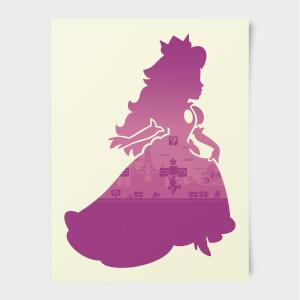 Nintendo Super Mario Peach Silhouette Print