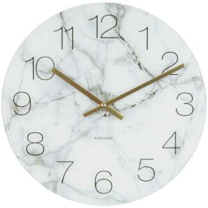 Karlsson Medium Glass Marble Wall Clock - White