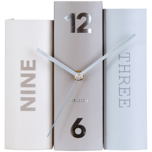 Karlsson Book Table Clock - Basics Paper