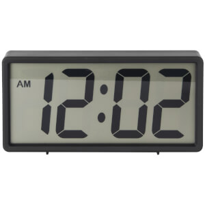 Karlsson Coy Rubberized Alarm Clock - Black