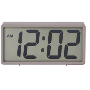 Karlsson Coy Rubberized Alarm Clock - Grey