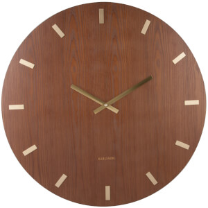 Karlsson Wood XL Wall Clock - Dark Wood