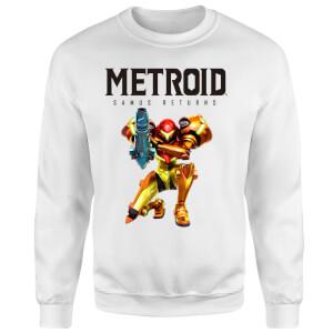 Metroid Samus Returns Sweatshirt - White