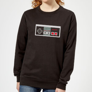 Nintendo NES Controller Chest Women's Sweatshirt - Black
