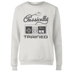 Retro NES Classically Trained Women's Sweatshirt - White