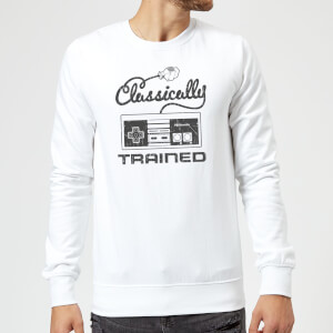 Nintendo Retro NES Classically Trained Sweatshirt - White