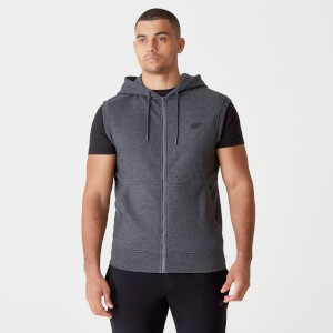 MP Men's Tru-Fit Sleeveless Hoodie 2.0 - Charcoal Marl