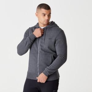 Tru-Fit Zip Up Hoodie 2.0 - Charcoal Marl