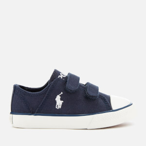 d455ae0a75 Polo Ralph Lauren Toddlers  Darian EZ Canvas Velcro Trainers - Navy White
