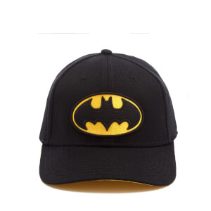 DC Comics Batman Men's Logo Cap - Black