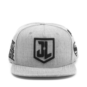 DC Comics Justice League Men's Embroidery Logo Cap - Grey