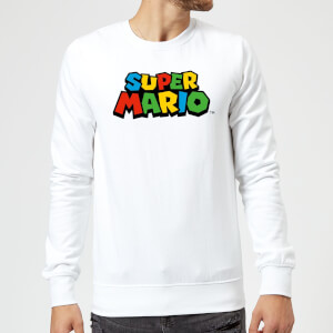 Sweat Homme Logo Couleur Super Mario - Nintendo - Blanc