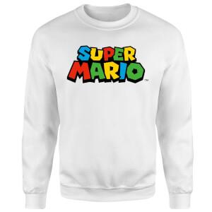 Nintendo Super Mario Colour Logo Sweatshirt - White