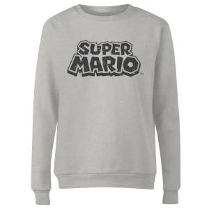 Sweat Femme Super Mario Abîmé Logo - Nintendo - Gris