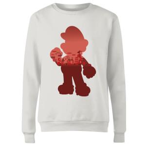 Sweat Femme Super Mario Mario Silhouette - Nintendo - Blanc