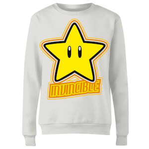 Nintendo Super Mario Invincible Women's Sweatshirt - White
