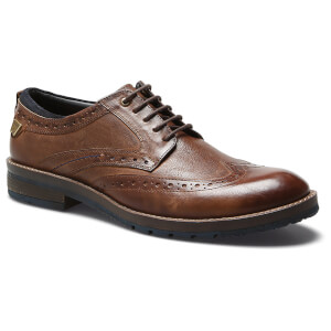 Wrangler Men's Boogie Leather Brogues - Rust