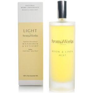 AromaWorks Light Range Room Mist – Mandarin and Vetivert