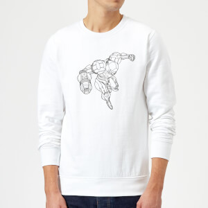 Sweat Homme Super Metroid (Nintendo) Samus - Blanc