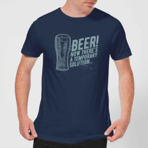 T-Shirt Homme Beer Temporary Solution - Bleu Marine