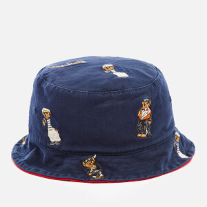 Polo Ralph Lauren Men's Cotton Chino Bear Bucket Hat - Newport Navy