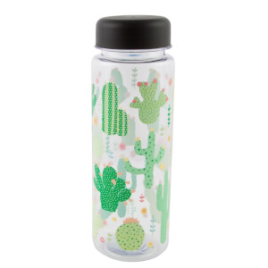 Sass & Belle Colourful Cactus Clear Water Bottle from I Want One Of Those
