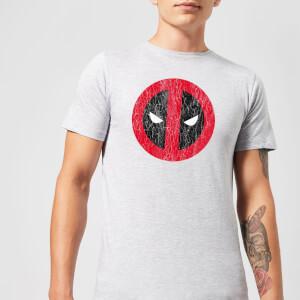 T-Shirt Homme Deadpool (Marvel) Logo Craqué - Gris