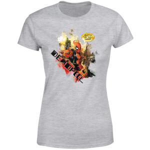 T-Shirt Femme Deadpool (Marvel) Outta The Way Nerd - Gris