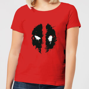 Marvel Deadpool Splat Face Frauen T-Shirt - Rot