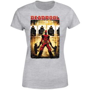 T-Shirt Femme Deadpool (Marvel) Cible - Gris