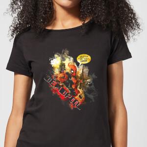 Marvel Deadpool Outta The Way Nerd Women's T-Shirt - Black