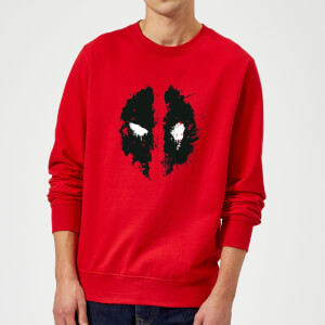 Sweat Homme Deadpool (Marvel) Splat Face - Rouge