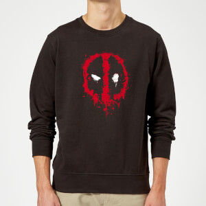 Marvel Deadpool Splat Face Sweatshirt - Schwarz