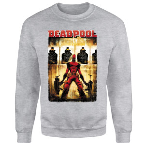 Sweat Homme Deadpool (Marvel) Cible - Gris