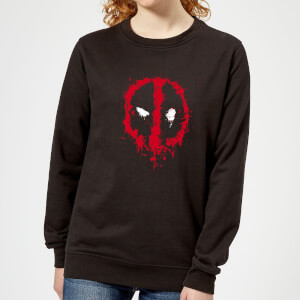 Marvel Deadpool Splat Face Women's Sweatshirt - Black
