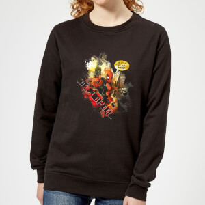 Marvel Deadpool Outta The Way Nerd Women's Sweatshirt - Black