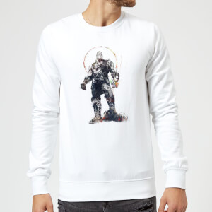 Marvel Avengers Infinity War Thanos Sketch Sweatshirt - White