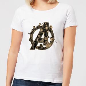 Marvel Avengers Infinity War Avengers Logo Damen T-Shirt - Weiß