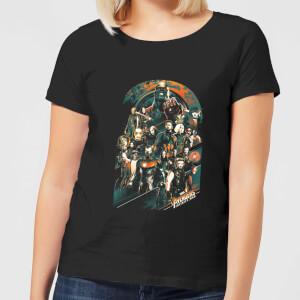 Marvel Avengers Infinity War Avengers Team Damen T-Shirt - Schwarz
