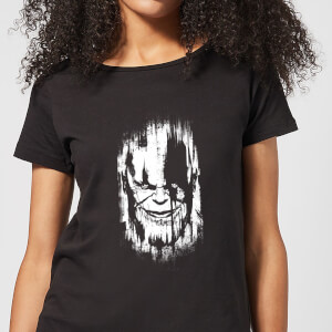 Marvel Avengers Infinity War Thanos Face Dames T-shirt - Zwart