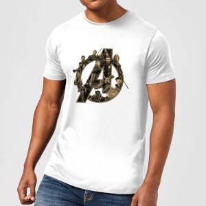 T-Shirt Marvel Avengers Infinity War Avengers Logo - Bianco