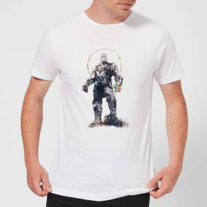 Camiseta Marvel Vengadores: Infinity War Thanos Sketch - Hombre - Blanco