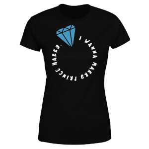 I Wanna Marry Prince Harry Women's T-Shirt - Black