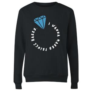 I Wanna Marry Prince Harry Women's Sweatshirt - Black